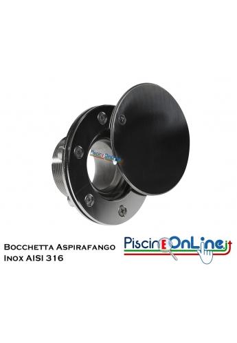 BOCCHETTA ASPIRAFANGO IN ACCIAIO INOX 316 PER RIVESTIMENTO LINER - ACCESSORI PER PISCINA ONLINE
