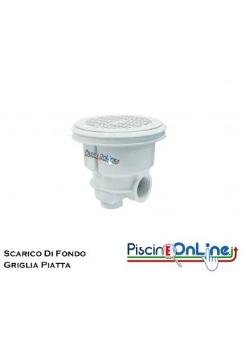SCARICO DI FONDO NORM PER LINER CON GRIGLIA PIATTA