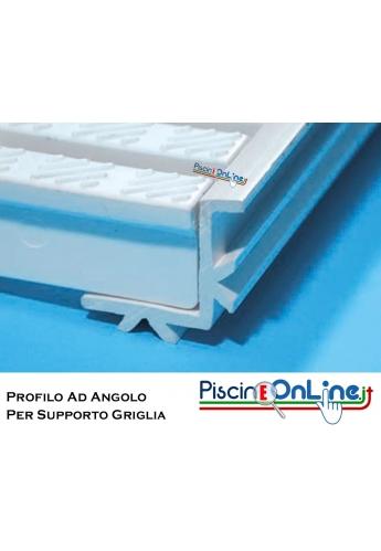 PROFILO AD ANGOLO IN PVC BIANCO PER SUPPORTO GRIGLIA 25 X 20 MM