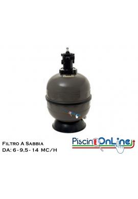 FILTRO IN POLIMERO INIETTATO CON VALVOLA TOP DA 6 A 14 METRI CUBI/H - FILTRI PER PISCINA SCONTI ONLINE