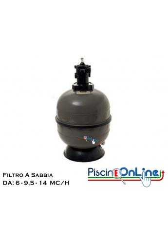 FILTRO IN POLIMERO INIETTATO CON VALVOLA TOP DA 6 A 14 METRI CUBI/H