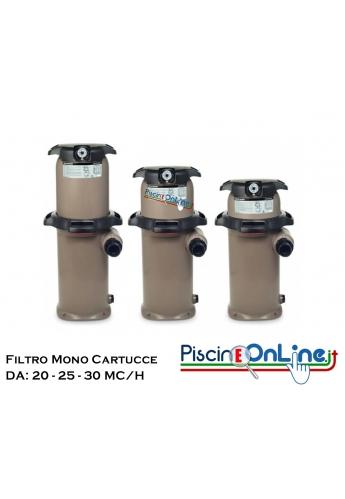 FILTRO MONO CARTUCCIA SWIM CLEAR - MODELLI DA 20/25/30 MC/H