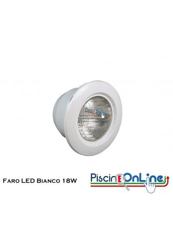 FARO LED BIANCO CRYSTALOGIC 18 WATT PER RIVESTIMENTO C.A./LINER
