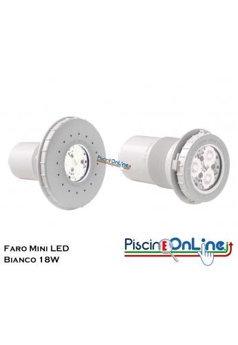 FARO MINI LED BIANCO 18 WATT PER RIVESTIMENTO C.A./LINER IDEALI ANCHE PER SCALE E SPA