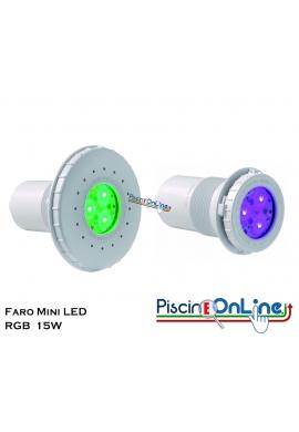 FARO MINI LED RGB 15 WATT COLORLOGIC  PER RIVESTIMENTO C.A./LINER IDEALI ANCHE PER SCALE E SPA