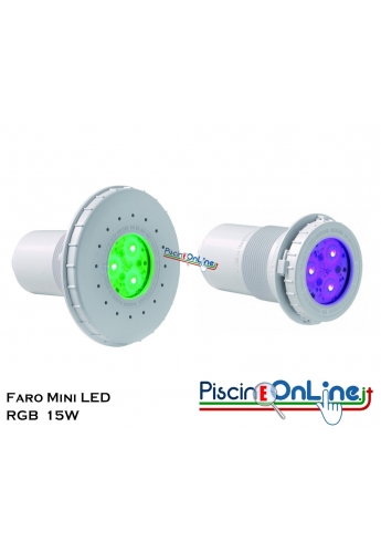 FARO MINI LED RGB 15 WATT COLORLOGIC PER RIVESTIMENTO C.A./LINER IDEALI ANCHE PER SCALE E SPA