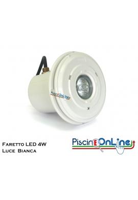 FARETTO LED 4 WATT IN ABS CON LAMPADA BIANCA  PER RIVESTIMENTO C.A./PVC LINER