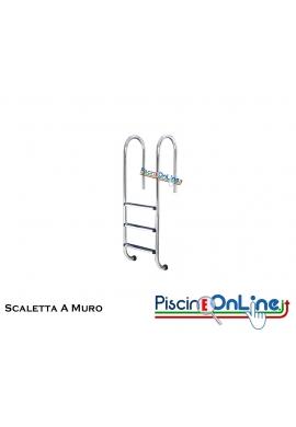 SCALETTA A MURO IN ACCIAIO INOX AISI 316 DA 2 a 5 GRADINI ANATOMICI - offerte accessori piscina online