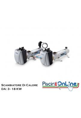SCAMBIATORE DI CALORE ELETTRICO COMPACT IN ACCIAIO INOX AISI 316 DA 3 A 18 KW