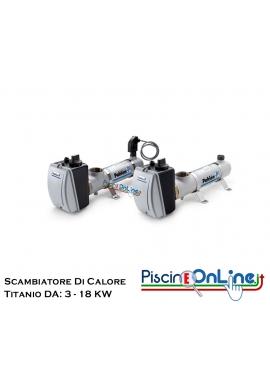SCAMBIATORE DI CALORE ELETTRICO COMPACT IN TITANIO DA 3 A 18 KW