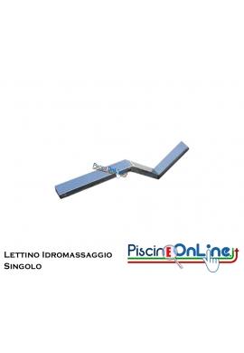 LETTINO IDROMASSAGGIO IN ACCIAIO INOX AISI 316 SINGOLO PER PISCINE IN C.A./LINER