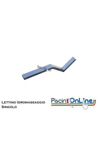 LETTINO IDROMASSAGGIO TUBOLARE IN ACCIAIO INOX AISI 316 SINGOLO PER PISCINE IN C.A./LINER