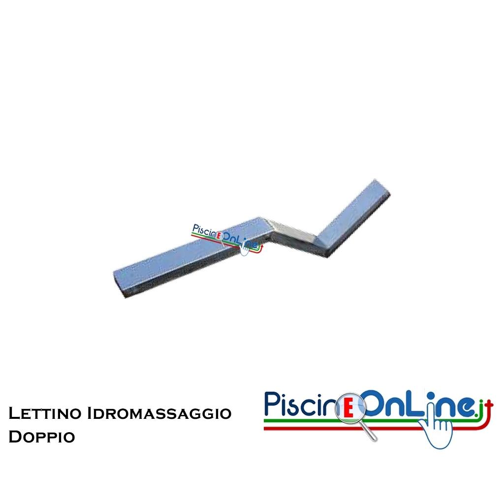 Lettino idromassaggio in acciaio inox aisi 316 doppio per piscine in c a liner - Piscine in acciaio inox ...