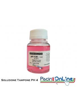 SOLUZIONE TAMPONE PER LA CALIBRAZIONE PH4 -  FLACONE DA 90 CC