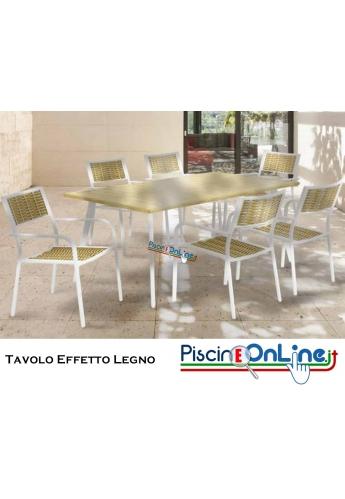 Tavolo Dipinto effetto legno