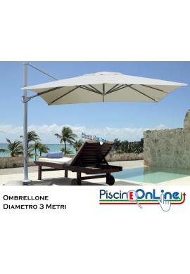 OMBRELLONE PARASOLE CON BRACCIO DECENTRATO 3x3 MT