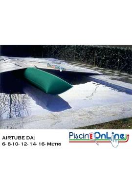 SALAMOTTO AD ARIA AIRTUBE Ø PIATTO 100 CM IN PVC CALANDRATO CON VALVOLA A VITE, TUBO DI RACCORDO E POMPA A PEDALE