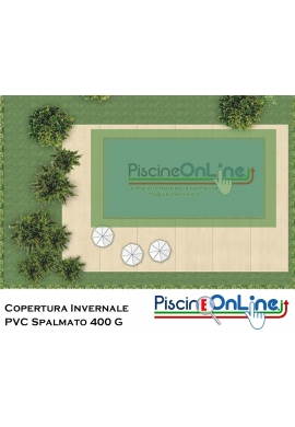 COPERTURA INVERNALE IN PVC SPALMATO 400 GR - PER PISCINA RETTANGOLARE - PREDISPOSTA PER TUBOLARI