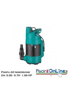 Elettropompe sommergibili in PVC galleggiante incorporato - da 0.50 HP - 0.70 HP - 1.00 HP
