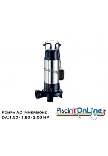 Elettropompe sommergibili con trituratore per acque sporche e cariche  da 1.50 HP a  2.50 HP - Monofase e Trifase