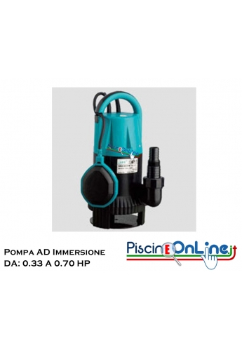 ELETTROPOMPE SOMMERGIBILI IN PVC DA 0.33 HP a 0.70 HP - 4 MODELLI