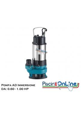ELETTROPOMPA sommergibile acque sporche e cariche - HP 0.60 HP 1.00 - Aspira anche piccoli corpi solidi