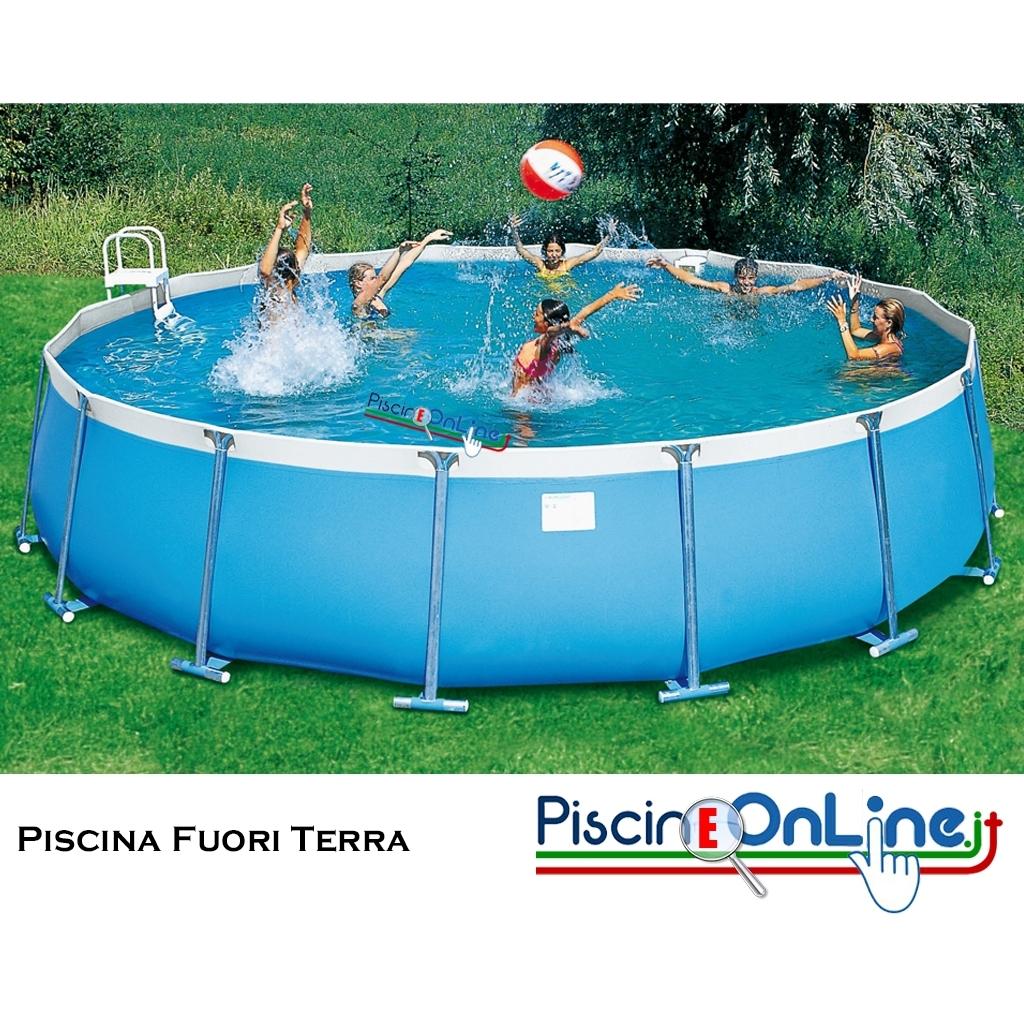 Piscina fuori terra circolare con struttura tubolarein - Misure piscine fuori terra ...