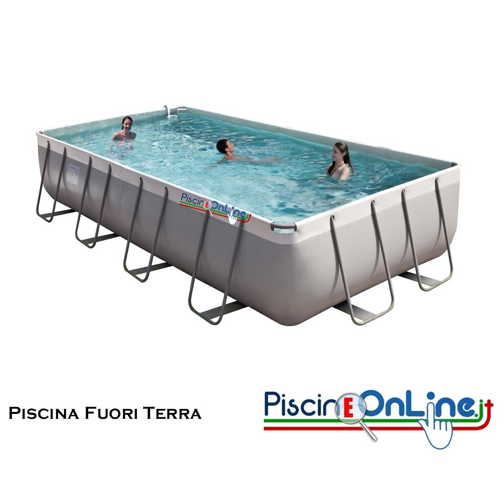piscina fuoriterra rettangolare h 100 cm con struttura