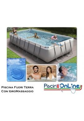 PISCINA FUORI TERRA CON IDROMASSAGGIO - H 100 CM
