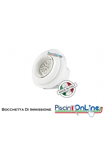 """Bocchetta in ABS D.2""""M-50F con diffusore a sfera per pannello con rivestimento in PVC"""