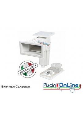 SKIMMER CLASSIC IN ABS D. 63F - 75M - 50F - 63M A BATTENTE PER PANNELLI E CEMENTO CON RIVESTIMENTO IN PVC