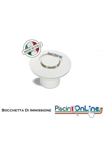 """Bocchetta in ABS D.2""""M-50F a pavimento con diffusore radiale per rivestimento in PVC"""