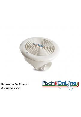 SCARICO DI FONDO - PRESA DI FONDO CON GRIGLIA ANTIVORTICE IN ABS - H 150mm.