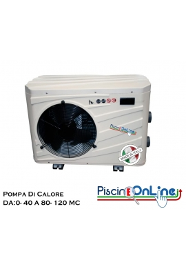 POMPA DI CALORE PER PISCINE FINO A 120 MC - DISPONIBILE IN 4 MODELLI - IDEALE PER PISCINA SALATA