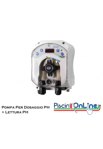 Pompa peristaltica dosaggio ph con strumento Lettura ph