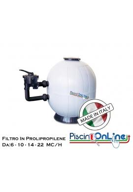FILTRO IN POLIPROPILENE PER PISCINE CON ACQUA DOLCE E SALATA - METRI CUBI ORARI 6-10-14-22