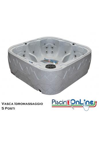 Vasca idromassaggio 5 posti interno - esterno - La scocca di questa vasca idromassaggio è in polietilene