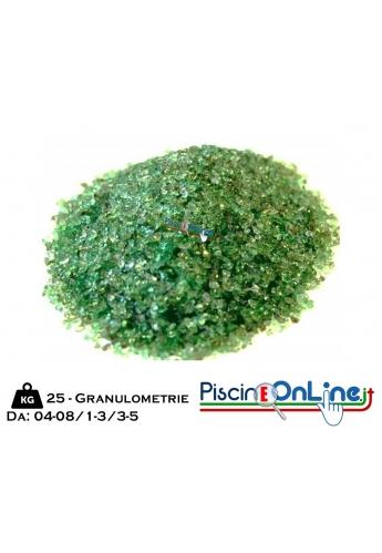 Sabbia di Vetro in sacco da Kg 25 - 2 diverse granulometrie