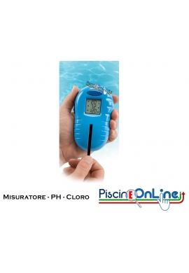 TESTER DELL'ACQUA DIGITALE - MISURATORE DI CLORO E PH - TESTER DIGITALE PISCINA