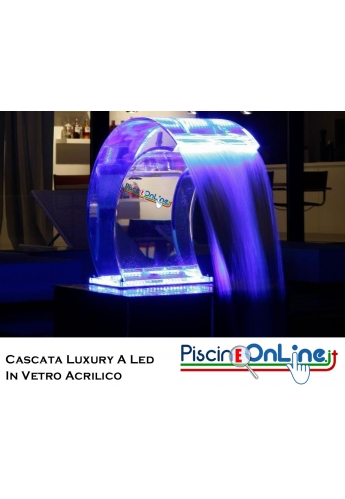 Cascata LUXURY LED in VETRO ACRILICO e LED MULTICOLOR CON CONTROLLO REMOTO