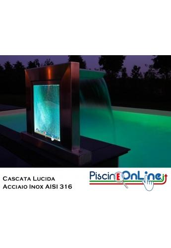 Cascata GRECIA in acciaio inox aisi 316 con verto acrilico e LED MULTICOLOR