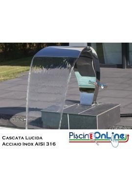 CASCATA BRASILE IN ACCIAIO AISI 316 LUCIDO