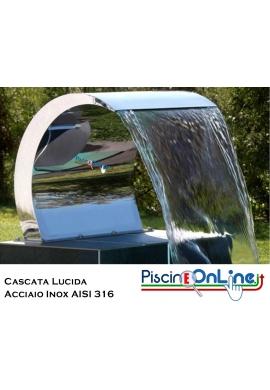 CASCATA ALABAMA IN ACCIAIO INOX AISI 316 LUCIDA
