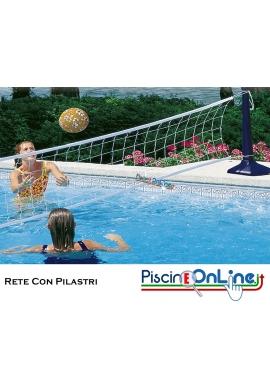 Rete per Pallavolo in Piscina Con Pilastri Inclusi