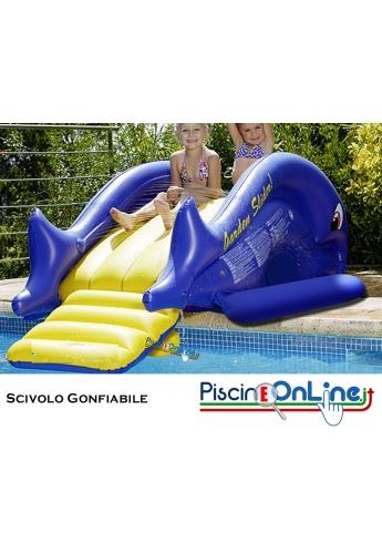 Scivolo per piscina gonfiabile - Effetto pioggia