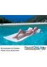Materasso in Gomma Piuma americano Galleggiante - per piscina e per spiaggia - Colore blu