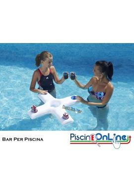 Bar per piscina galleggiante per piscina con portaghiaccio