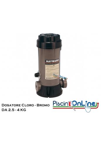 Dosatore distributore automatico di cloro o bromo per prodotti chimici per pulizia piscina