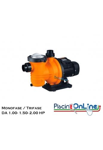 Pompa Centrifuga Monofase-trifase da 1 HP a 2 HP Completa di Prefiltro
