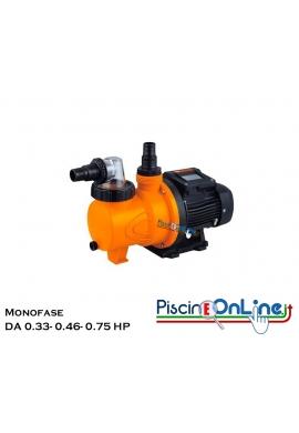 Pompa Centrifuga Monofase da 0.33 HP a 0.75 HP Completa di Prefiltro